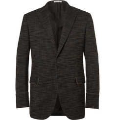 Bottega Veneta Black Slim-Fit Stretch Cotton-Blend Canvas Blazer
