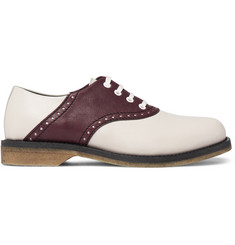 Bottega Veneta Two-Tone Leather Derby Shoes