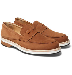 WANT LES ESSENTIELS - Marcos Suede Penny Loafers