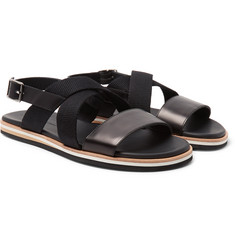 WANT LES ESSENTIELS - Jobim Leather and Canvas Sandals
