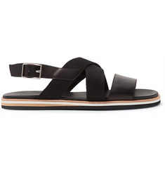 WANT LES ESSENTIELS Jobim Leather and Canvas Sandals