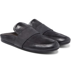Marsell - Backless Washed-Leather Loafers