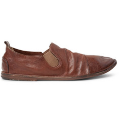 Marsell Washed-Leather Loafers