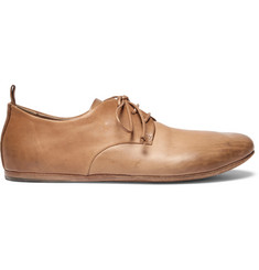 Marsell Burnished-Leather Derby Shoes