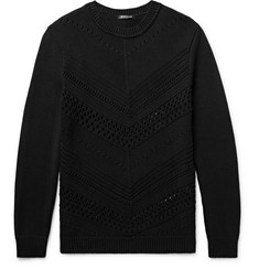 Balmain Open-Knit Cotton Sweater