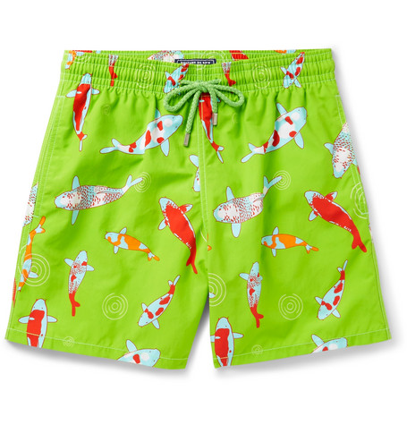 Vilebrequin Moorea Long-length Printed Swim Shorts In Green