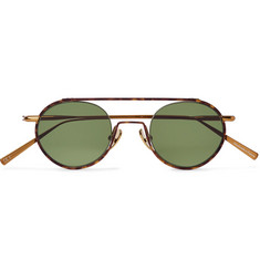 Acne Studios Round-Frame Tortoiseshell Acetate and Bronze-Tone Sunglasses