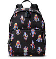 Prada - Leather-Trimmed Robot-Print Nylon Backpack