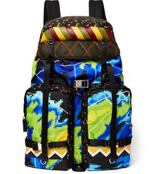 Prada Saffiano Leather-Trimmed Printed Nylon Backpack