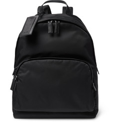 Prada Saffiano Leather-Trimmed Shell Backpack