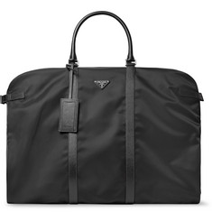 Prada Saffiano Leather-Trimmed Nylon Garment Bag