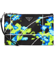 Prada - Saffiano Leather-Trimmed Printed Shell Pouch