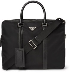 Prada - Leather-Trimmed Nylon Briefcase