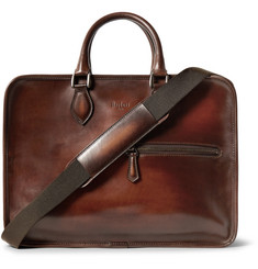 Berluti Deux Jours Polished-Leather Briefcase