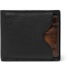 Berluti Makore 2-in-1 Leather Billfold Wallet with Removable Card Holder