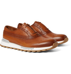 Berluti - Fast Track Polished-Leather Oxford Brogues