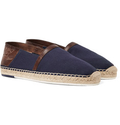 Berluti - Esteban Leather-Trimmed Canvas Espadrilles