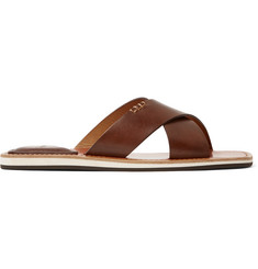 Berluti Elio Polished-Leather Slides