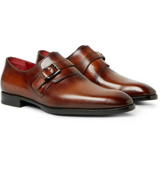 Berluti - Polished-Leather Monk-Strap Shoes