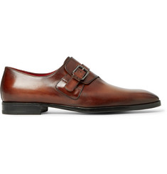 Berluti Polished-Leather Monk-Strap Shoes