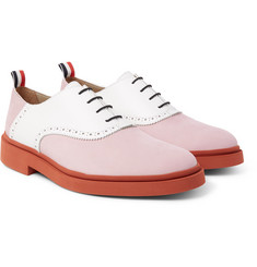 Thom Browne - Two-Tone Nubuck and Leather Oxford Shoes