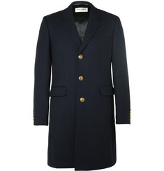 Saint Laurent Slim-Fit Wool and Silk-Blend Twill Coat