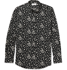 Saint Laurent Star-Print Voile Shirt