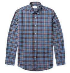 Saint Laurent Slim-Fit Checked Brushed-Cotton Flannel Shirt