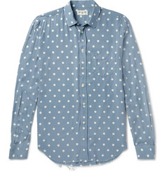 Saint Laurent Distressed Polka-Dot Voile Shirt