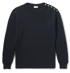 Saint Laurent Ribbed Cotton and Wool-Blend Sweater