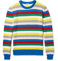 Saint Laurent Striped Cotton Sweater