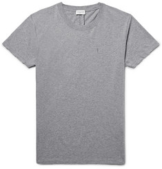Saint Laurent Slim-Fit Mélange Cotton-Jersey T-Shirt