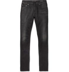 Saint Laurent Skinny-Fit 15cm Hem Stretch-Denim Jeans
