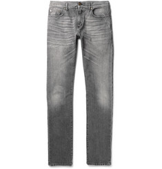Saint Laurent Skinny-Fit 15cm Hem Washed-Denim Jeans