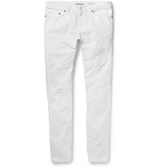 Saint Laurent - Skinny-Fit 15cm Hem Distressed Denim Jeans