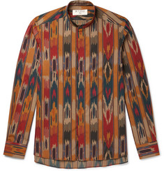 Etro Grandad-Collar Printed Cotton-Poplin Shirt