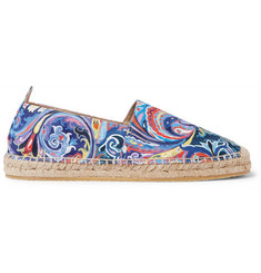 Etro Painted Paisley Canvas Espadrilles