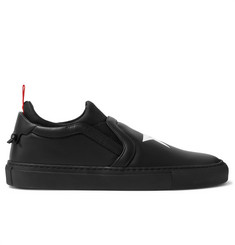 Givenchy Neoprene-Trimmed Leather Slip-On Sneakers