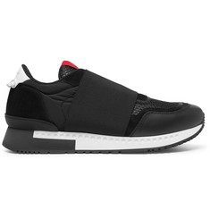 Givenchy - Elasticated-Strap Leather, Suede and Mesh Sneakers