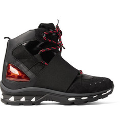 Givenchy Leather, Suede and Nylon Boots
