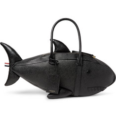 Thom Browne Shark Pebble-Grain Leather Tote Bag