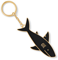 Thom Browne Shark Gold-Tone Enamel Key Fob