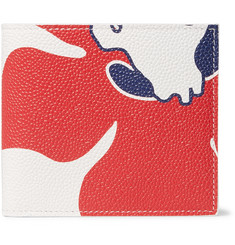 Thom Browne Printed Pebble-Grain Leather Billfold Wallet
