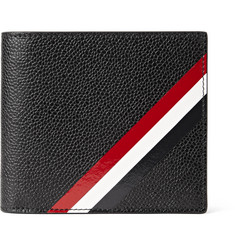 Thom Browne Striped Pebble-Grain Leather Billfold Wallet