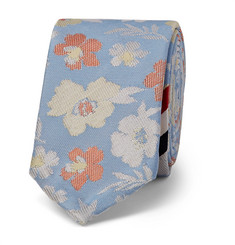 Thom Browne 5.5cm Striped Floral Silk-Jacquard Tie