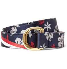 Thom Browne 3cm Floral-Patterned Silk-Jacquard Belt