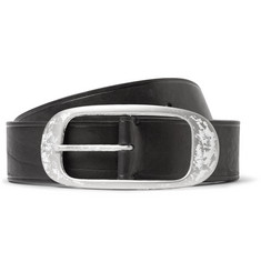 Lanvin 4cm Black Leather Belt
