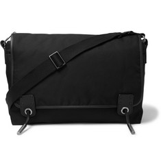 Lanvin Leather-Trimmed Twill Messenger Bag