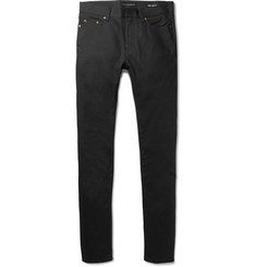 Saint Laurent Skinny-Fit 15cm Hem Raw Stretch-Denim Jeans