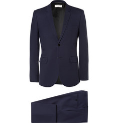 Saint Laurent - Blue Slim-Fit Virgin Wool-Gabardine Suit